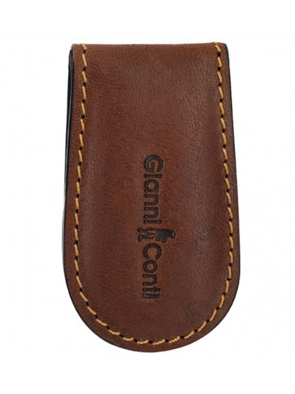 Gianni Conti Leather Money Clip