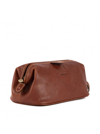 Gianni Conti Leather wash bag